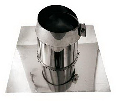 Canna fumaria tubo scarico fumi acciaio inox AISI 316 - parete doppia rame dn 200 faldale per tetti piani