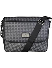 Yoome Hommes solide en cuir véritable sac d'ordinateur portable serviette sac à bandoulière sac à main Vintage - jaune marron