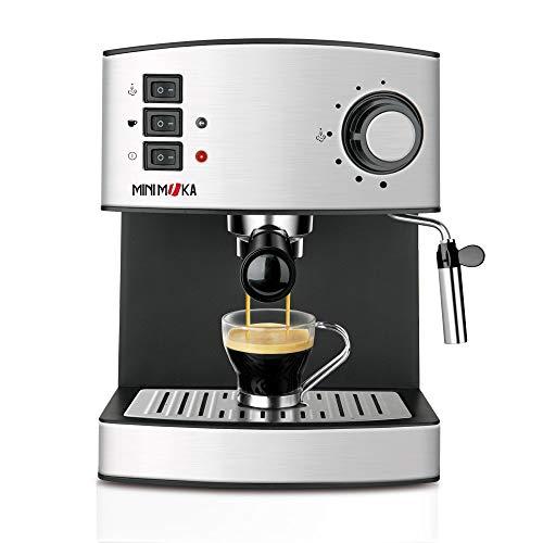 Mini Moka CM-1821 999.319 Cafetera Espreso 15 Bar / 850 W / 1,6 L 6.7628 Cups, 0 Decibeles, Acero Inoxidable