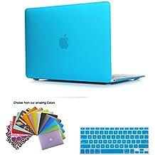 MacBook 12 Retina Case Funda, TECOOL [Ultra Slim Series] Plástico Hard Shell Funda con Tapa del Teclado para MacBook 12 Pulgada con Retina Display Modelo: A1534 - Azul claro