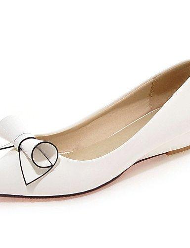 DFGBDFG PDX/Damen Schuhe Patent Leder flach Ferse Spitz Zehen Wohnungen Office & Karriere/Kleid/Casual Schwarz/Pink/Rot/Weiß, red-us10.5/eu42/uk8.5/cn43 - Größe: One Size (Schuhe Red Patent Leder-ballerina-flache)