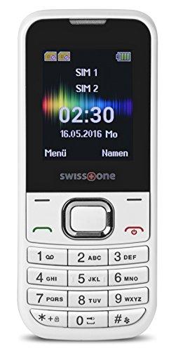 swisstone SC 230 Dual SIM Handy (4,5 cm (1,8 Zoll), mit extra großem beleuchtetem, Farbdisplay) weiß