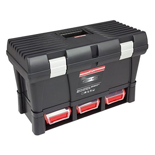 Werkzeugkoffer Werkzeugkasten Toolbox Stuff Module System Basic 525x256x325 mm Alu-Verschlüsse Sichtlagerkästen Werkzeugträger