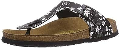 Papillio by Birkenstock Gizeh, Women's Sandals, Sixties Flowers/Black, 4.5 UK, 37 EU