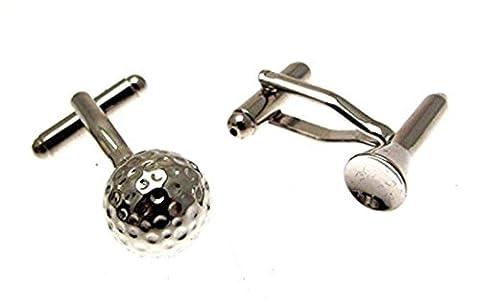 Boutons de manchette de Golf fantaisie boutons de manchette Balle de golf et T-shirt Design Cadeau