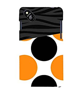 Orange Black Dotted Pattern 3D Hard Polycarbonate Designer Back Case Cover for Micromax Bolt D303