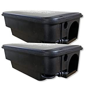 2 scatole di esca robusti per ratti per l'esterno 41DsLH 07kL. SS300