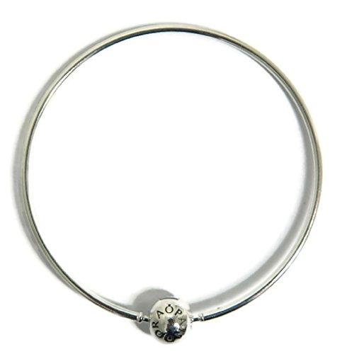 Pandora essence bracciale da donna con chiusura sferica, argento 925 596006, argento, cod. 596006-20