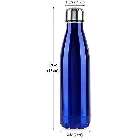 OUTAD Botella Térmica en Acero Inoxidable Forma de Bolos/Bowling (Azul)