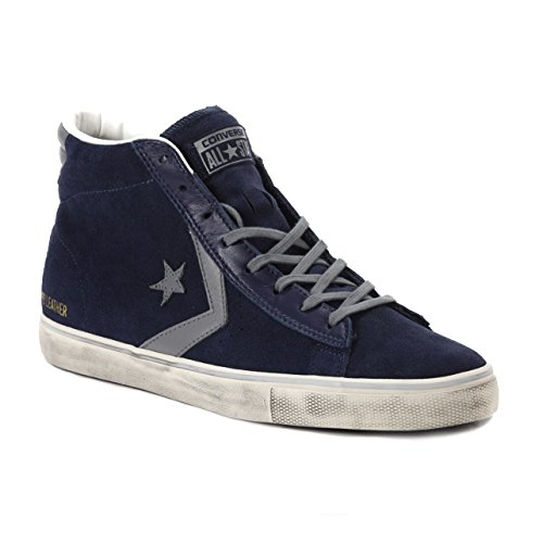 CONVERSE PRO LEATHER VULC DISTRESSED MID NAVY 4