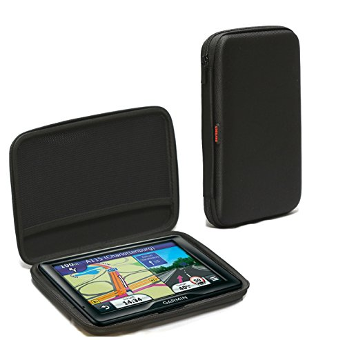 Navitech Schwarz Anti Blendbilschirm Case Cover Hüllefür das Garmin Camper 760 LMT-D / Garmin Camper 770 LMT-D