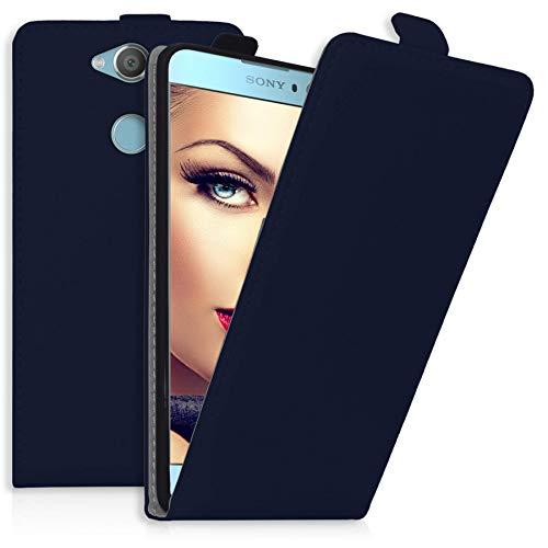 mtb more energy® Flip-Case Tasche für Sony Xperia XA2   XA2 Dual (5.2'')   blau   Kunstleder   Klapp-Cover Hülle Case