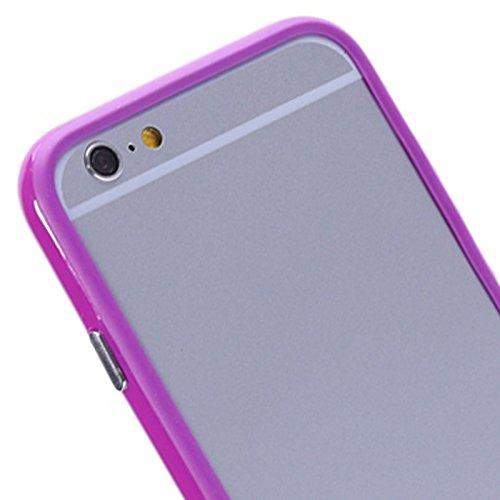 Wkae Case Cover reine farbe tpu - und plastik - stoßstange rahmen für iphone 6 &65 ( SKU : S-IP6G-0081Y ) S-IP6G-0081P