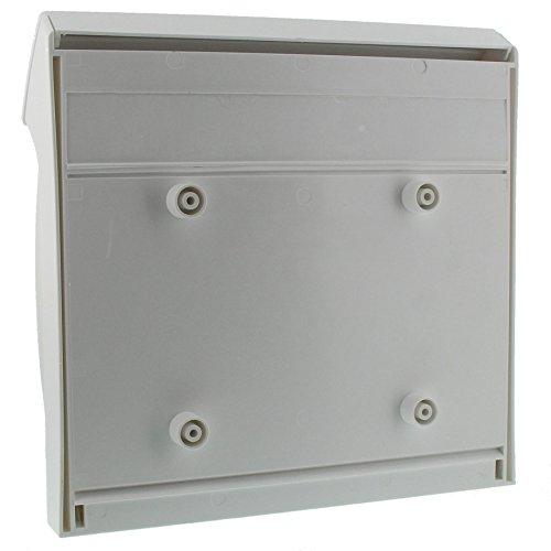 BURG-WÄCHTER, Kompakter Briefkasten mit Öffnungsstopp, A4 Einwurf-Format, Vollkunststoff, Classico 4931 W, Weiß - 2