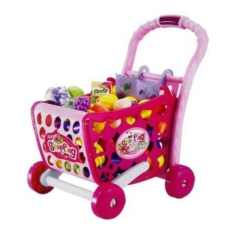 BUCA Shopping Cart Trolley Set Hand Push 29+Pcs Perfect Birthday Gift For Kids - Multi Color