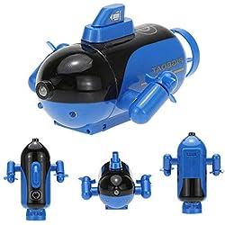 Womdee RC Mini télécommande de sous-Marin avec télécommande électronique étanche sous l'eau Submersible télécommande sous-Marine Mettez-Le dans la Piscine