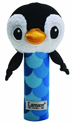 Lamaze 27088 - Pingüino de peluche para apretar [importado de Alemania] de Lamaze