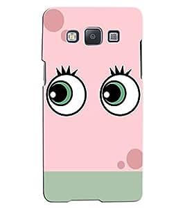 Citydreamz Eyes/Cartoon/Pink Hard Polycarbonate Designer Back Case Cover For Samsung Galaxy E7