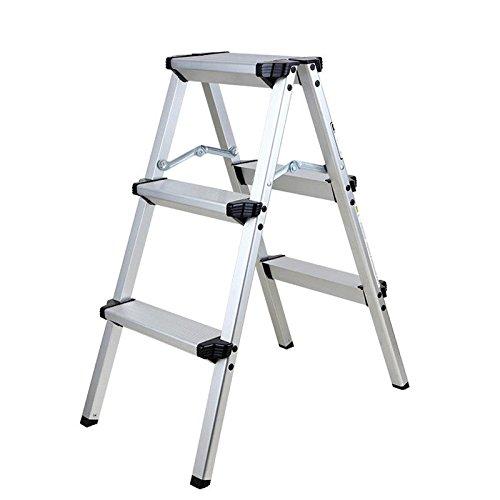 TryESeller Scala a 3 gradini in alluminio Scaletta casalinga di tipo A Scala a due lati pieghevole