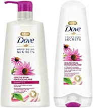 Dove Healthy Ritual for Growing Hair Shampoo, 650 ml & Dove Healthy Ritual for Growing Hair Conditioner, 1