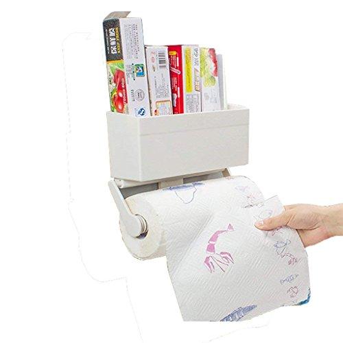 VIOY Regal Organizer Bins Regal Teiler für Schränke Lagerregal Aufbewahrungsbox Kühlschrank Rack Küche Lagerregal Rollenpapier Handtuch Cling Film Tasche Magnet Side Saugnapf Lagerung Regal (Magnet-teiler)