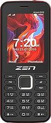 ZEN Atom 202 Dual SIM Feature Phone (Black-Red)