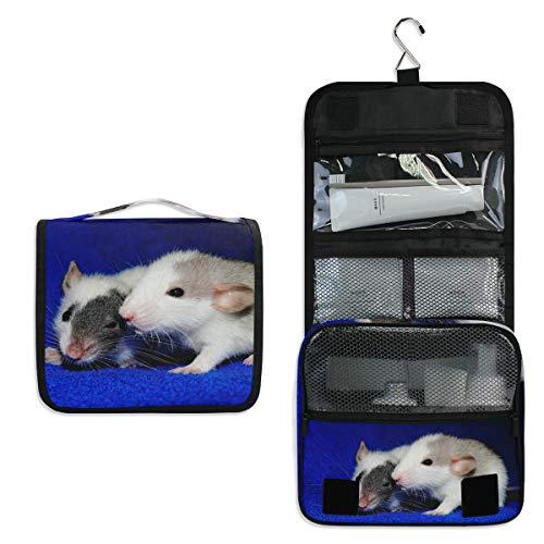 Kulturtasche für Frauen und Mädchen mit Ratten, Tiere, Maus, multifunktional, Kosmetiktasche, zum Aufhängen, Make-up-Tasche
