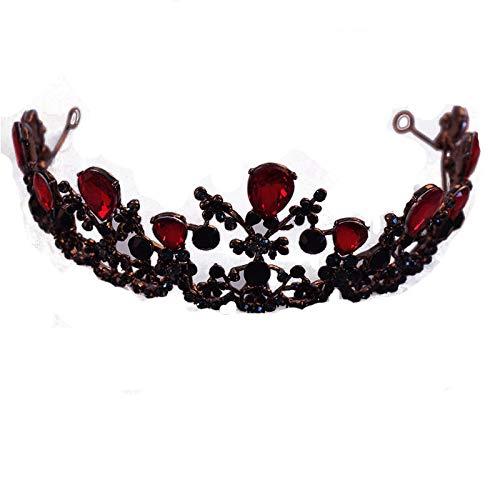 XAFXAL Krone Tiara, Retro Crystal Glass Krone Neuheit Mode Fotografie Hochzeit Bridal Crown Für Die Proms Prinzessin Parteien Geburtstag Mädchen Frauen Kinder Diademe Haar Schmuck