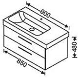 Burgbad meuble de lavabo 2 tiroirs pour keramag icon wUHY085 90 cm