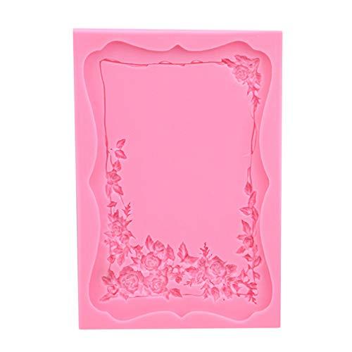 L_shop Rahmen Silikonform Vintage Fotorahmen Polymer Clay Form Kuchen Grenze Dekoration Weiche Form (Grenze Dekoration)