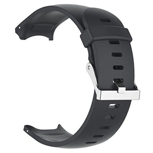 squarex Ersatz Silicagel Soft Band Strap Für Garmin Approach S3-GPS-Uhr, Damen, Schwarz, AS Show (Garmin-uhr Damen Band)