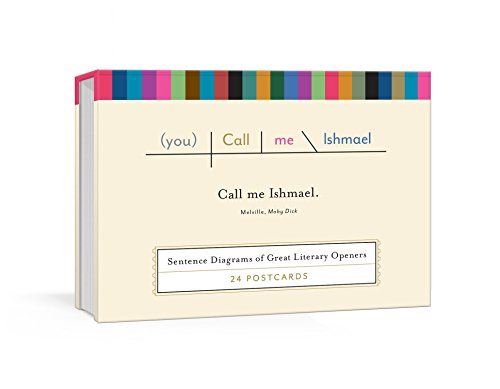 Call Me Ishmael Postcards: Sentence Diagrams of Great Literary Openers (Pop Chart Lab) (Chart Fan)