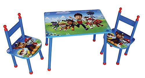 FUN HOUSE PAT'PATROUILLE Ensemble Une Table avec Deux CHAISES pour Enfant, MDF, Bleu, 60x40x44 cm