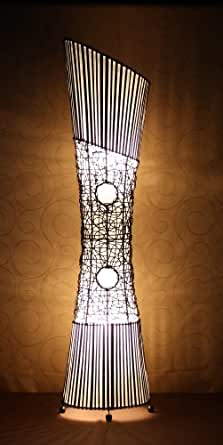 Lampadaire asiatique Sankosh Natural (LA12-128/NA), lampe design, lampe sur pied, lampe du sol, lampe à pied, lampe poétique, design decoratif, accessoires Bali