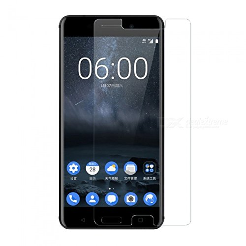 Snoogg Full Body Tempered Glass Screen Protector [ Full Body Edge to Edge ] [ Anti Scratch ] [ 2.5D Round Edge] [HD View] For Nokia 6  available at amazon for Rs.145