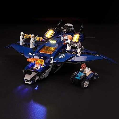 BRIKSMAX Led Beleuchtungsset für Lego Super Heroes Ultimativer Avengers Quinjet, Kompatibel Mit Lego 76126 Bausteinen Modell - Ohne Lego Set