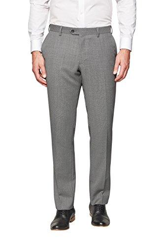 next Homme Pantalon de costume à motif œil-de-perdrix lavable en machine Gris