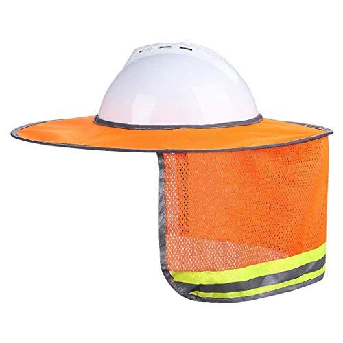 Huixing Schön 2er Packung Schutzhelm Sun Hals Schild Voller Krempe Sonnenschutz für Hart Hüte, Reflektierende, Hohe Sichtbarkeit Heißer Verkauf - Abschnitt 809b Orange Spot