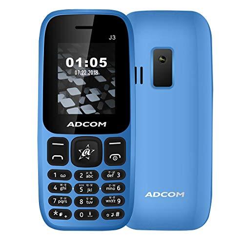 Adcom J3 (1.8 Inch Display, Dual Sim, FM Radio, Made in India, Blue)