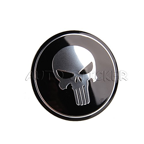 SPA 4PCS 56.5mm Punisher Skull Car Wheel Center Stickers Cover For Ford Chevrolet Volkswagen Audi Opel Volvo Mazda Citroen FIAT SEAT