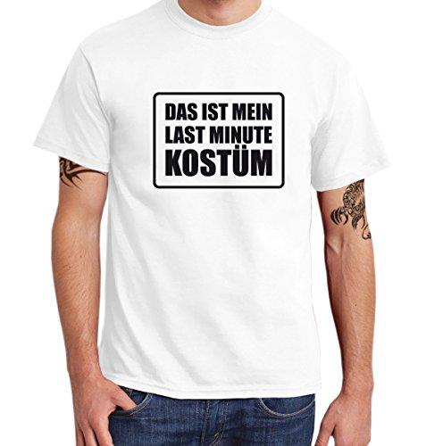 ::: DAS IST MEIN LAST MINUTE KOSTÜM ::: T-Shirt Herren, Weiß/Schwarz, 3XL