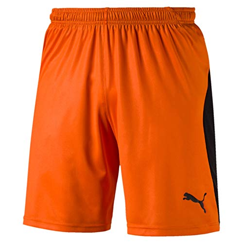 Puma Herren Liga Shorts Hose, Golden Poppy Black, S -