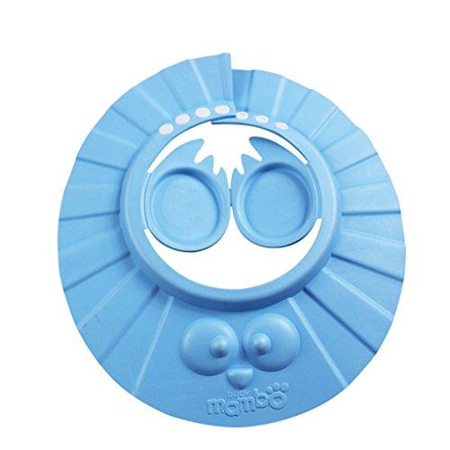 Shampoo Cap Bébé Shampooing Enfants Ear Etanche Cap Bonnet de douche Infant bonnet de bain pour enfants peut être ajustée ( couleur : Bleu )
