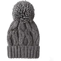 Shenzuyang Sombrero de señoras de Sombrero Sombrero de Punto otoño e Invierno al Aire Libre Serie 100% Material acrílico Combinado con una Exquisita Textura de Punto (Color : Gray, Size : M)
