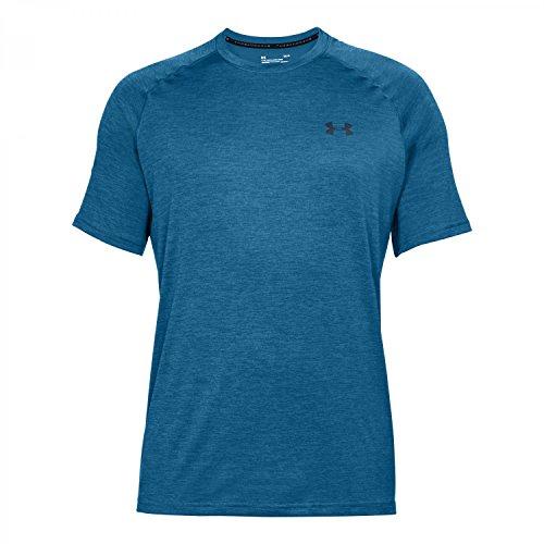 Under Armour Herren Fitness T-Shirt UA Tech Tee MOROCCAN BLUE/ ACADEMY