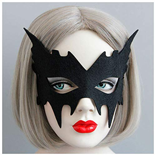 (YN 2018 Hot Black Bat Ghost Gesicht Kreative Halbe Gesichtsmaske Gentleman Schönheit Halloween Weihnachtsfeier COS Kinder Erwachsene Männer Und Frauen)