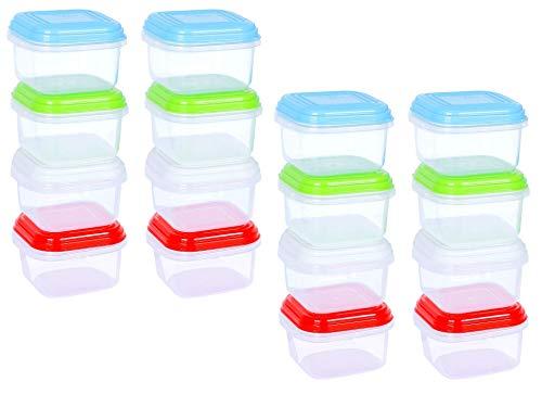 Arsuk set di contenitori per ermetico alimenti contenitori di plastica riutilizzabili con coperchi impilabili per microonde freezer lavastoviglie lunch box (mini storage 16pc)