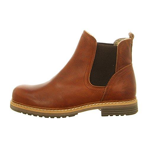 sea Boots 049M45402,Frauen Stiefel,Halbstiefel,Stiefelette,Bootie,Schlupfstiefel,flach,Cognac,EU 40 ()