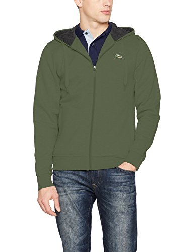 Lacoste Sport Herren Sweatshirt Sh7609, Grün (Armee/Bitume), Medium (Herstellergröße: 4) (Doppel-zip-kapuzen-jacke)