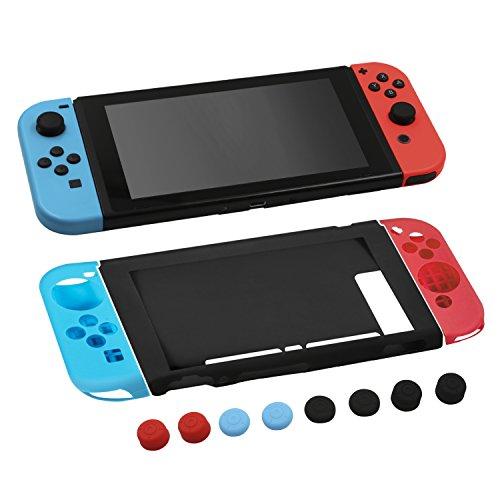 MOSISO Silicona Funda para Nintendo Switch, Joy-Con Protectores de Gel